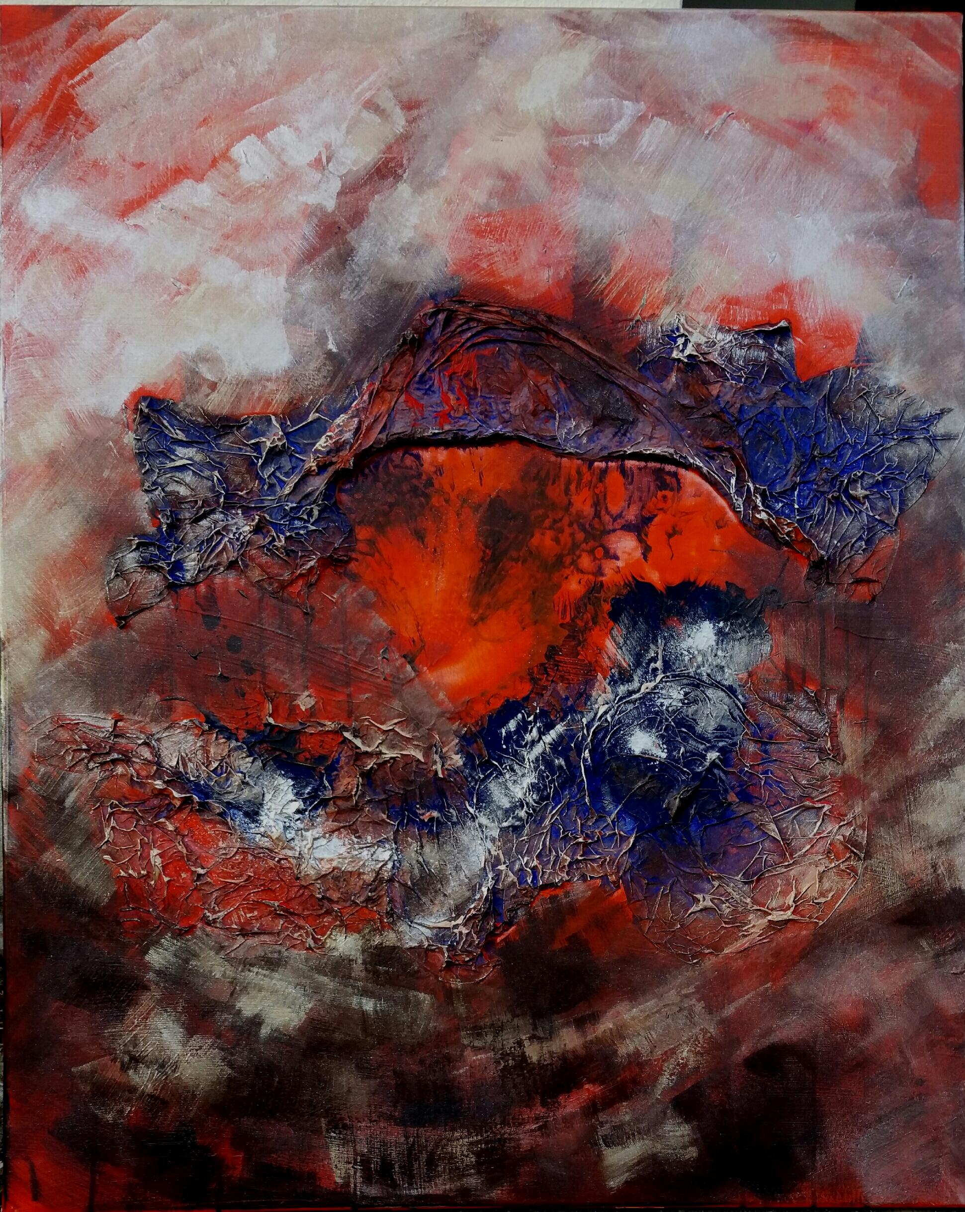 le-foyer-de-la-terre-acrylique-sur-toile-81x65