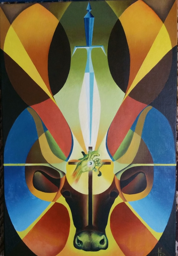 le-veau-dor-huile-sur-toile65x50-1970