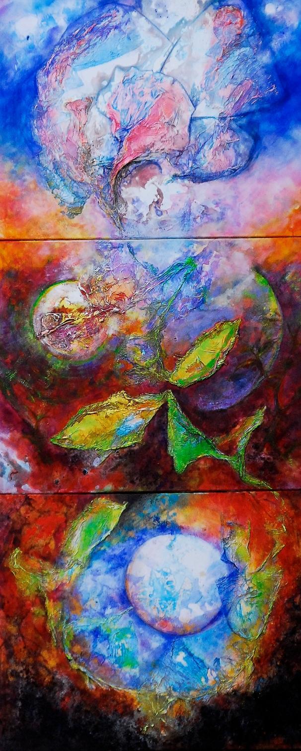 naissance-de-la-fleur-acrylique-sur-toilr-triptyque-195x81